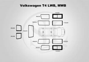 volkswagen t4 MWB, LWB