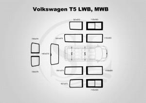 volkswagen t5 MWB, LWB